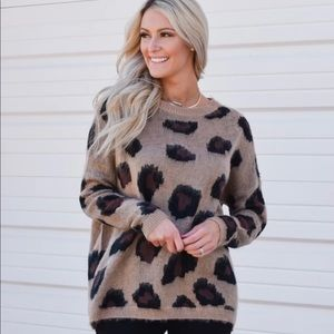 The Impeccable Pig leopard sweater one size